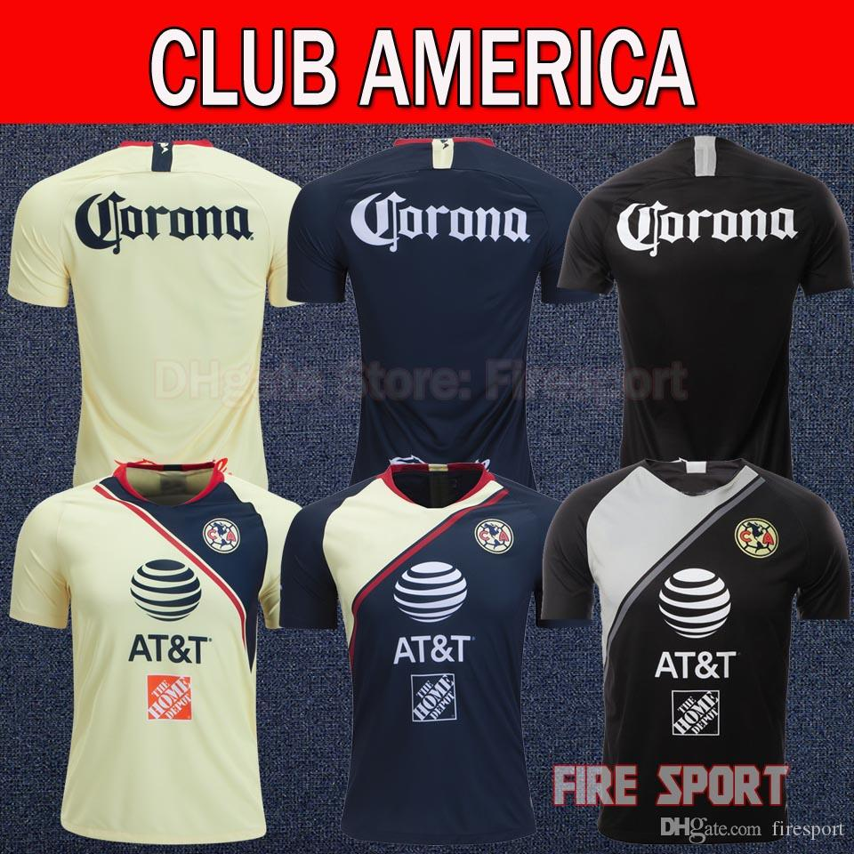 2019 Thailand Quality LIGA MX 2019 Club America Home Away Soccer Jerseys  2018 SAMBUEZA P.AGUILAR 18 19 O.Peralta Football Shirts From Firesport 29a45dce9