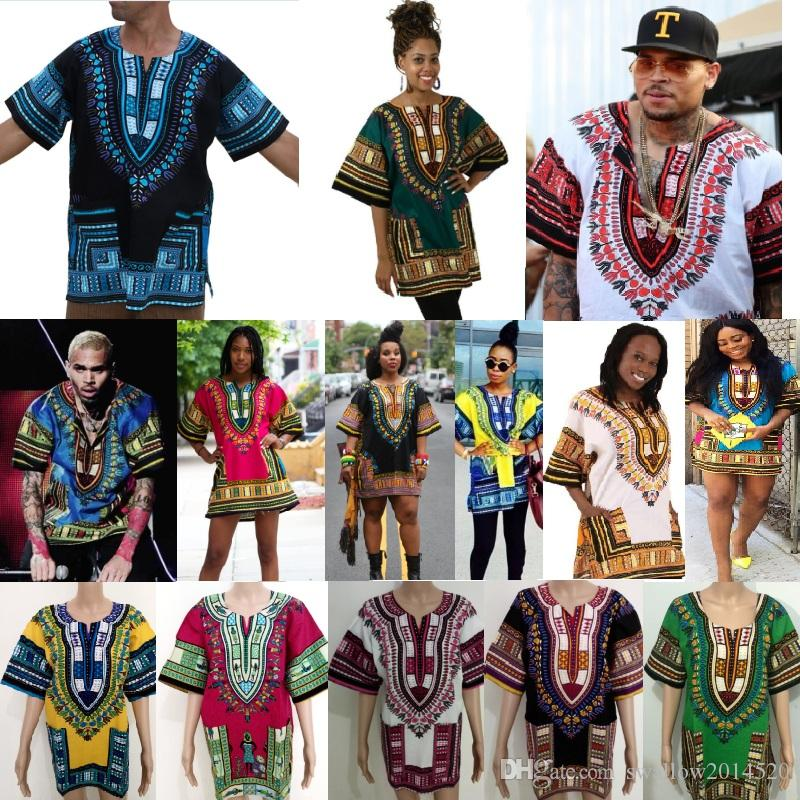Compre 2018 Nuevos es Tradicionales De Los Hombres Diseño De La Moda  Africana Imprimir Dashiki Hip Hop T Shirt Vestido De Las Mujeres Africanas  Se Visten A ... fb0ccd5758c