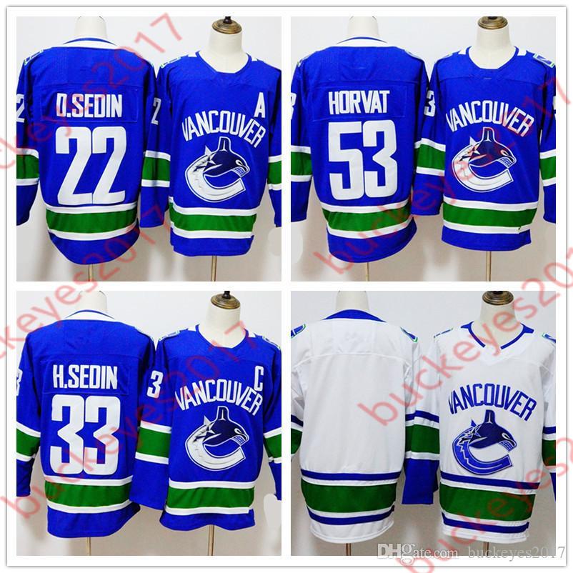 Hot Sale Vancouver Canucks 2018 New Brand 22 Daniel Sedin 33 Henrik ... 883521711