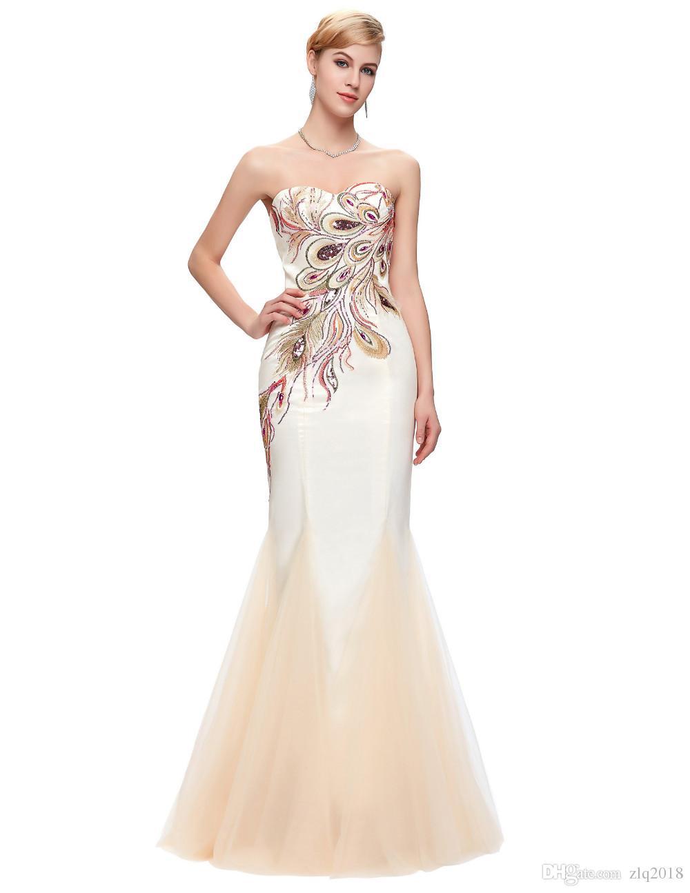 Elegant Long Evening Dresses 2018 Mermaid Sweetheart Phoenix ...