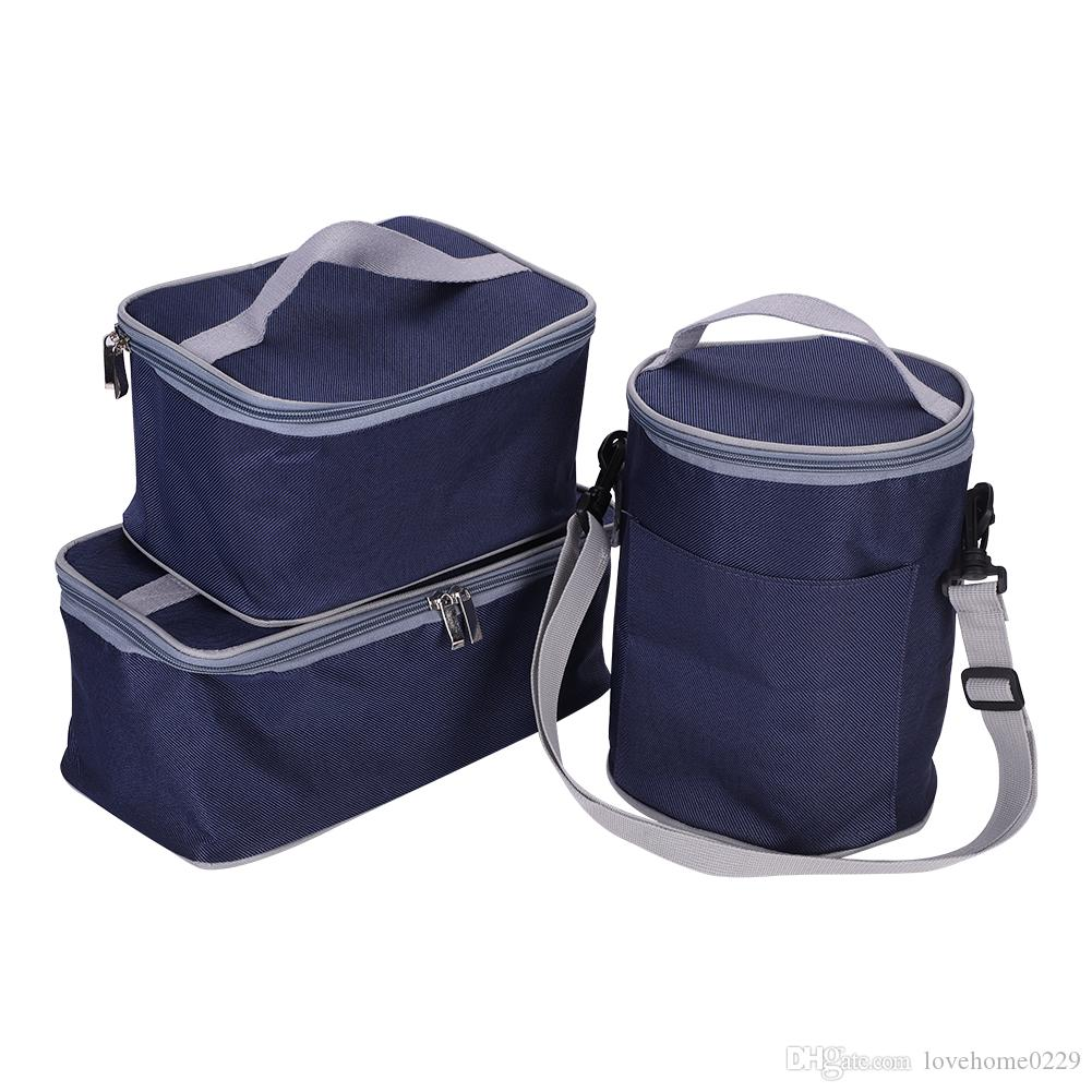 02c8b031d83c Insulated Lunch Bag, 3 Packs of Bento Lunch Box Tote Picnic Cool Bag Cooler  BBQ Food Drinks Carrier Pack Travel School Office Lunch Bag
