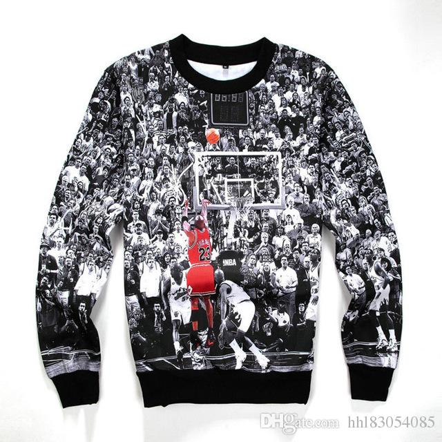 f3c49341 Men/Women's Harajuku Sweatshirts Basketball 3D Print 23 All Star ...