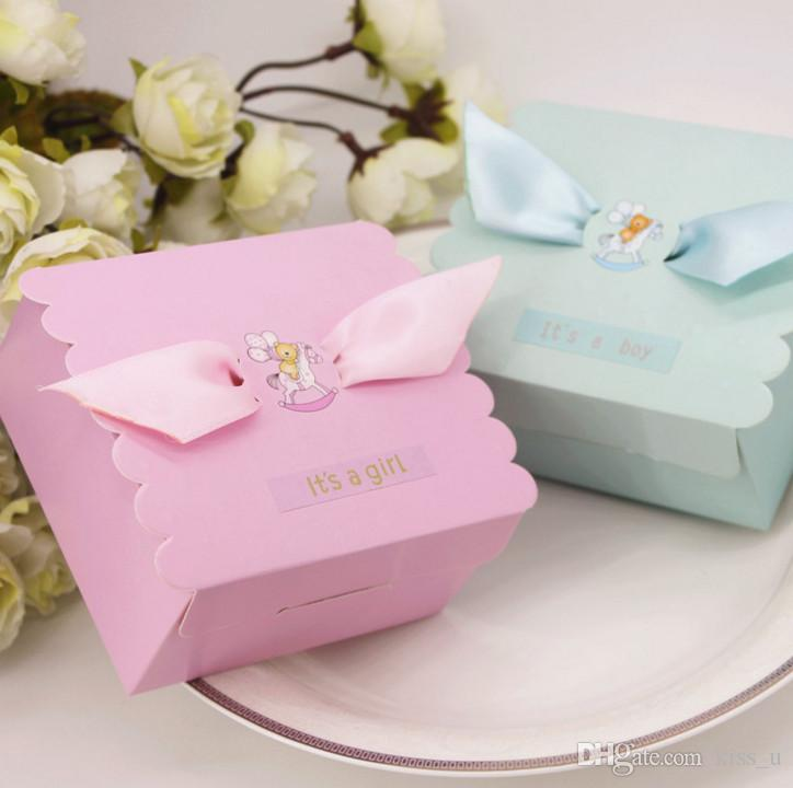 Pink Blue Baby Shower Candy Box ItS A Girl Boy 1st Birthday Gift Party Supply Cheap Boxes Wedding Card From Kiss U