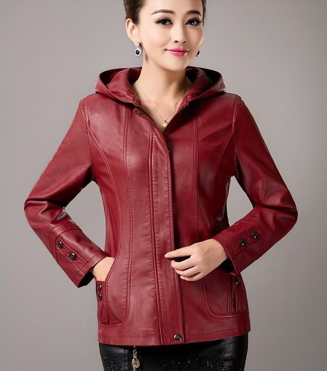 65cbb465951 OEAID Plus Size Leather Jacket Women 2017 New Leather Coat Women Short Slim  Spring Autumn Motorcycle Ladies Clothing Ladies Leather Clothing Leather ...