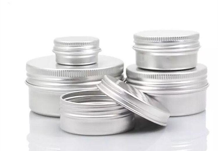 빈 알루미늄 크림 항아리 틴 5 10 15 30 50 100g 코스메틱 립 밤 컨테이너 네일 유출 공예 폿 병