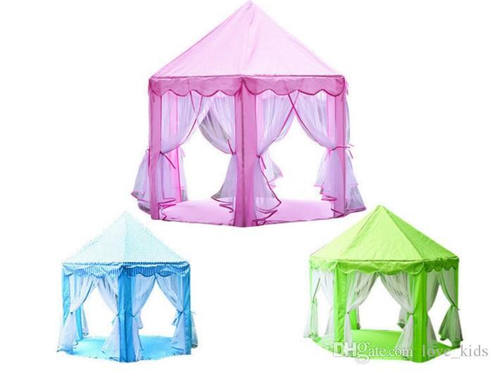 Crianças Barracas De Brinquedo Portátil Princesa Castelo Jogar Jogo Tenda Atividade Fada Casa Divertido Ao Ar Livre Indoor Playhouse Brinquedo Crianças Presentes