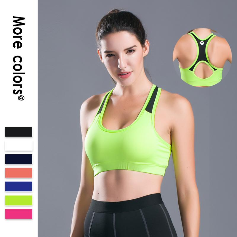 570b16b29b 2018 New Sexy Hollow Out Sports Bra Top Women Fitness Yoga Bras Backless Gym  Padded Sport Top Athletic Workout Running Underwear S XL From Bingquanwat
