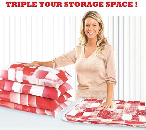 موفر مساحة الفراغ أكياس تخزين مع حجم فراغ جامبو اليد جامبو ، ممتازة للتخزين على المدى الطويل أو توفير مساحة إضافية أثناء السفر