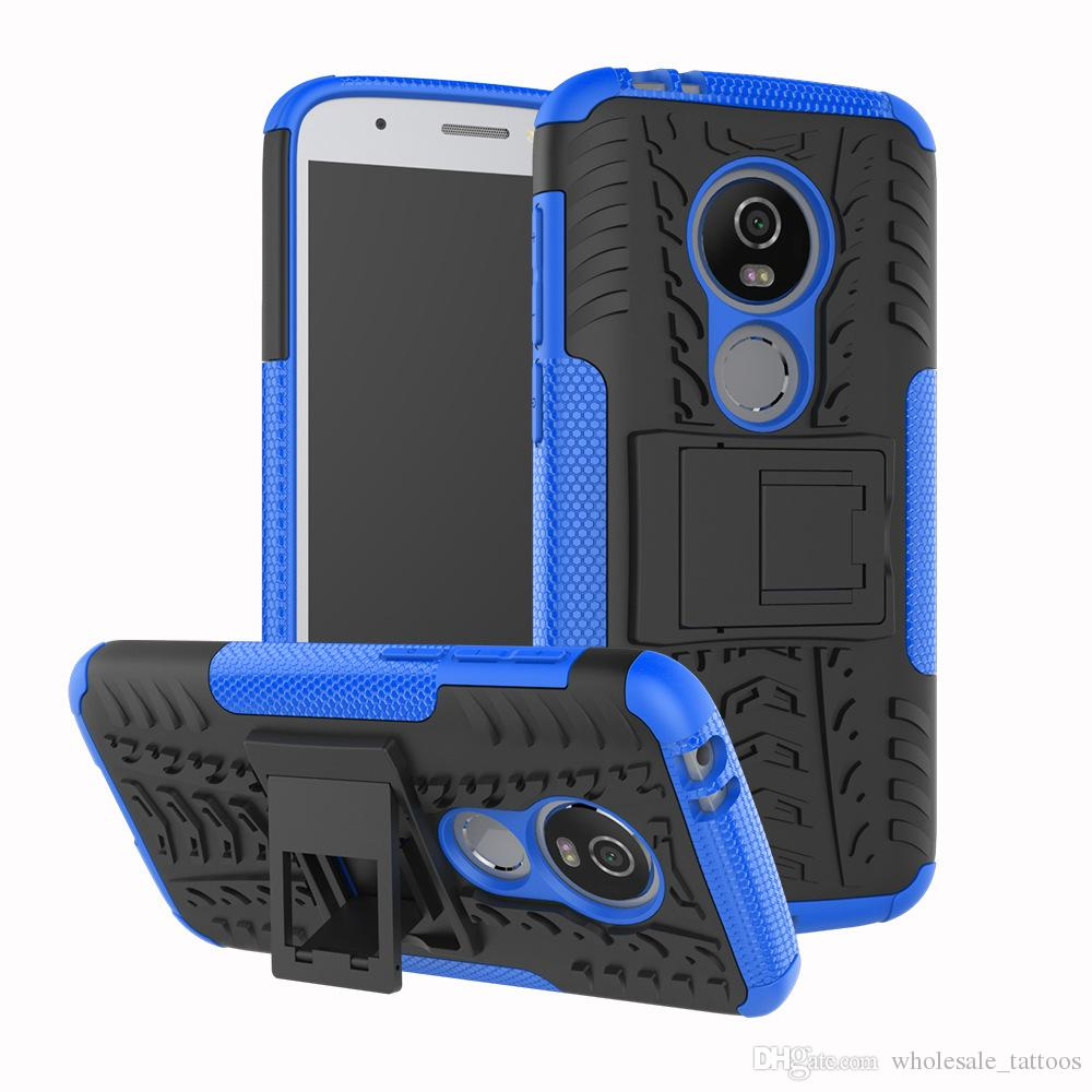 Armor Hybrid Case For LG Premier Pro LTE Fortune 2 Aristo 2 Tribute Dynasty  Moto E5 Play TPU Hard PC Shockproof Back Cover with Kickstand