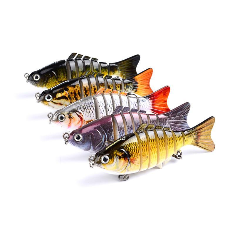 5-Color متعدد القسم الأسماك الصلب البلاستيك الساعد السحر الصيد السنانير 3d عيون الصيد إغراء الطعم الاصطناعي pesca معالجة السحر 10 سنتيمتر 15.5 جرام hs001