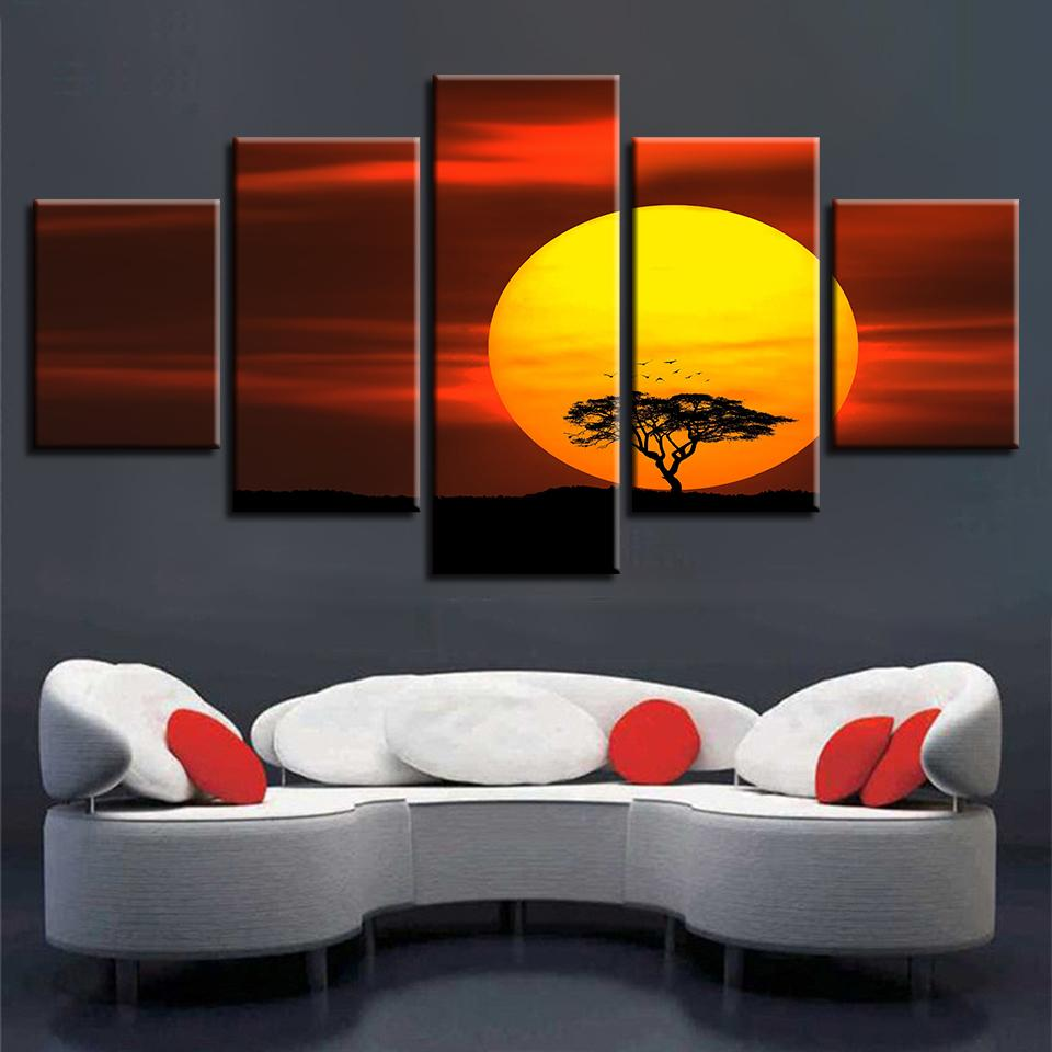Decor For Living Room Wall Art 5 Pieces Hd