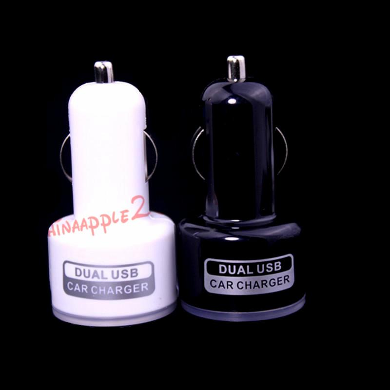 Led car charger 5V 2.1A 2-Port Dual USB Car Charger for iPhone 5 6 7 for samsung s3 s4 s5 s6 S7 for htc mp3 gps