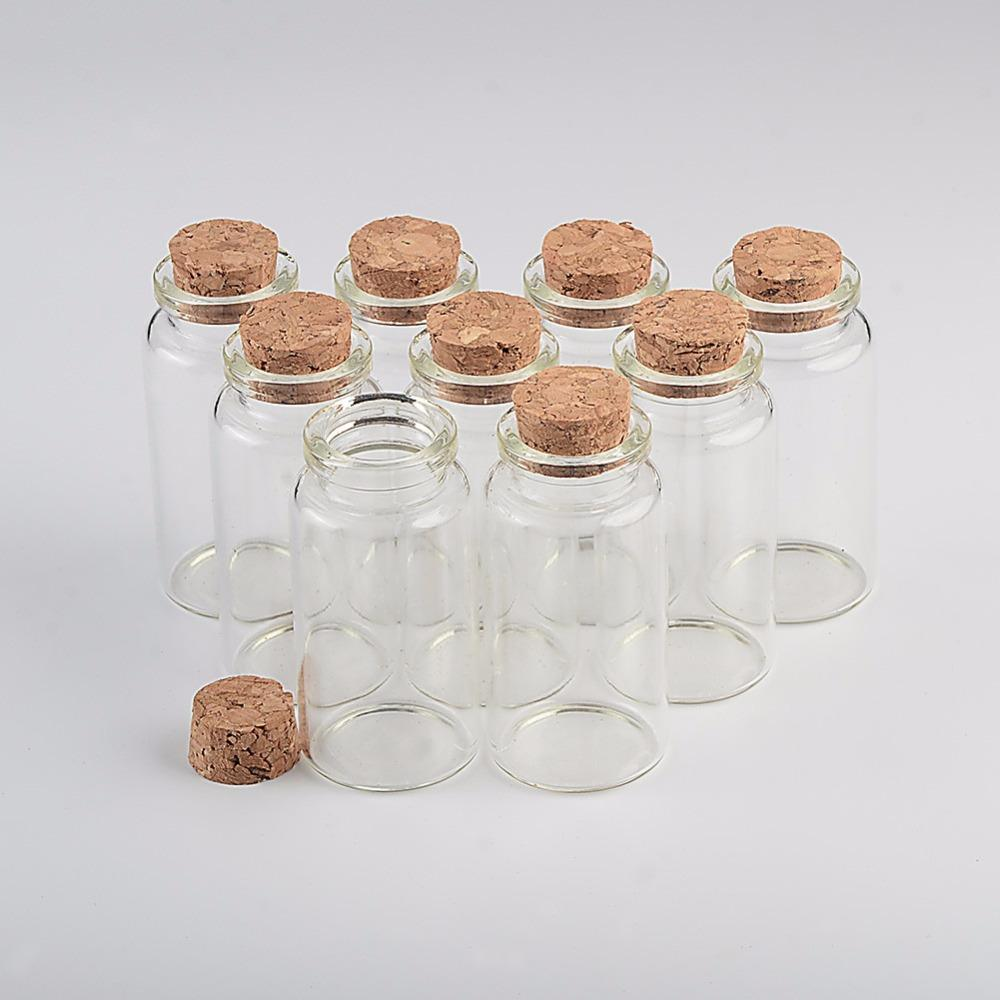 25ml Glass Bottles With Cork Small Transparent Clear Mini Empty Glass Vials Jars Gift Pack For Wedding Holiday Bottles3