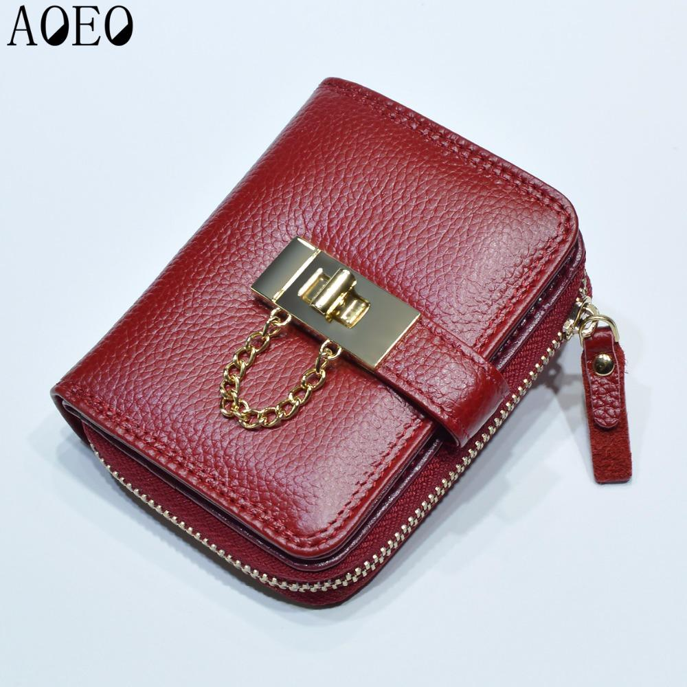 Korean Candy Girls Wallet Cute Small Mini Card Holder Big Capacity Women Genuine Purse Ladies Leather Wallets Female Pochette