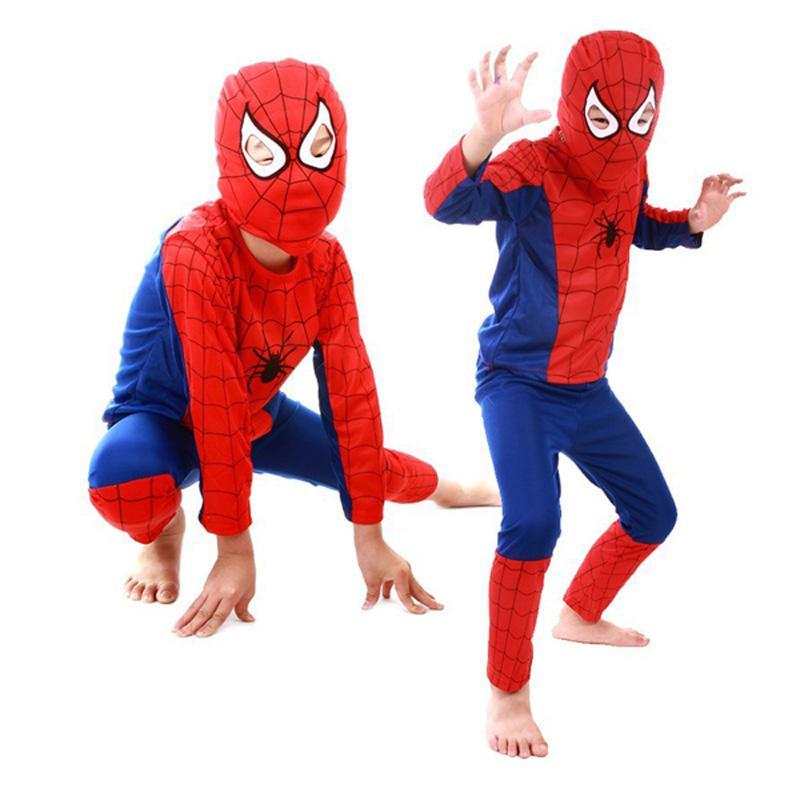 ostumes Accesorios Disfraces de cosplay 3 estilos niños superhéroes bebé  hombre araña superman batman spiderman cosplay carnaval disfraz de halloween  . 65ad2e08d7cb