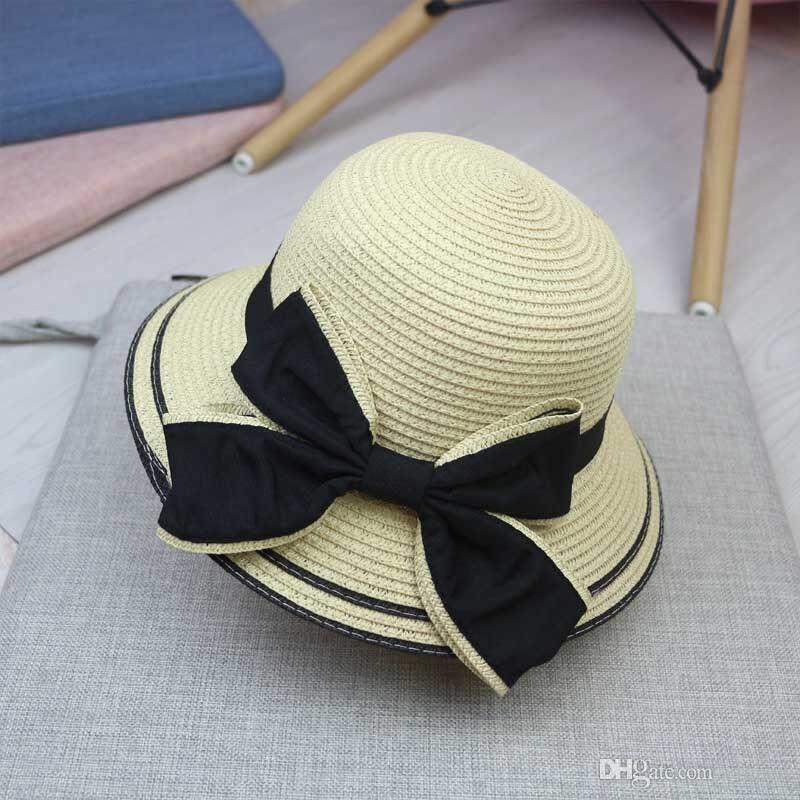 0fe8d45380f91 2018 Brand New And Hot Sale Fashion Girl S Straw Hat Summer Baby Sun Hat  Children S Fisherman S Hat Scala Hats Wholesale Hats From Erchen
