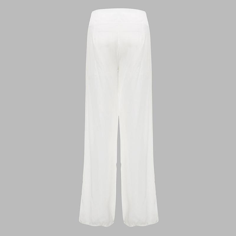 2017 weites bein hosen sexy frauen hohe taille dance party chiffon hosen damen lose lange hosen pantalones mujer hosen plus größe