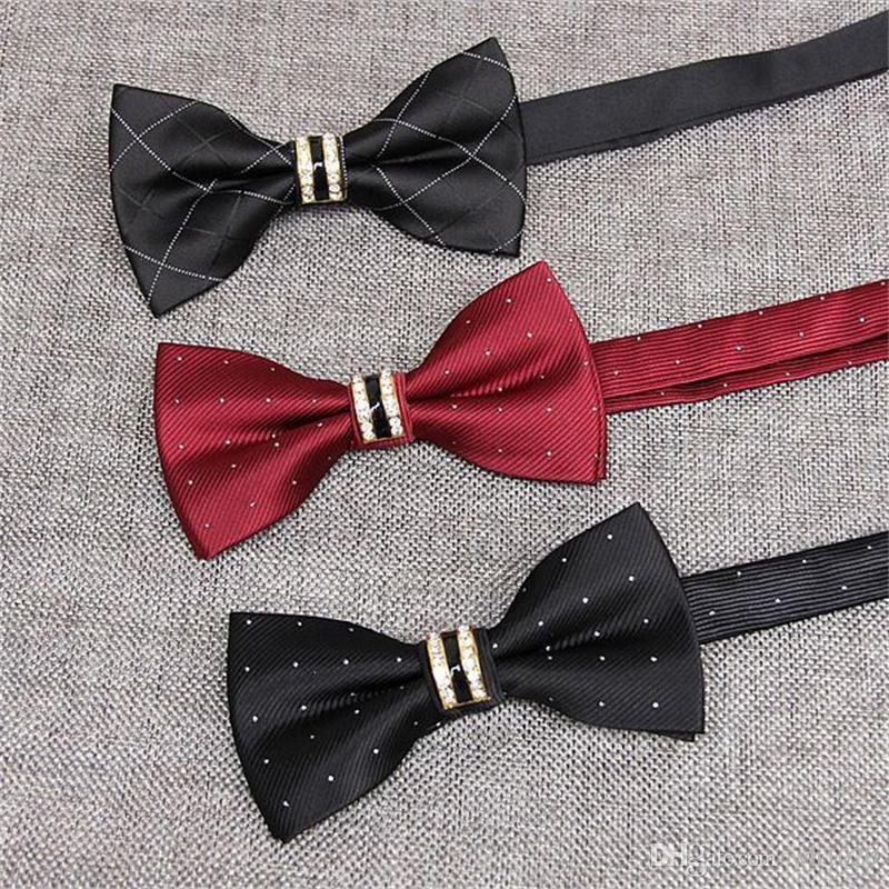 Лучший галстук-бабочка плед полосы бантом точка мужской костюм бабочка аксессуары галстуки для мужчин скрещенные кости черный галстук-бабочка 2 шт. / лот