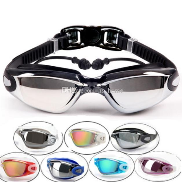dcb7e582132 2019 High Quality Swim Goggles Integrated Swimming Goggles Waterproof And  Anti Fog Ear Plug + Nose Clip Detachable Frame . From Hs home