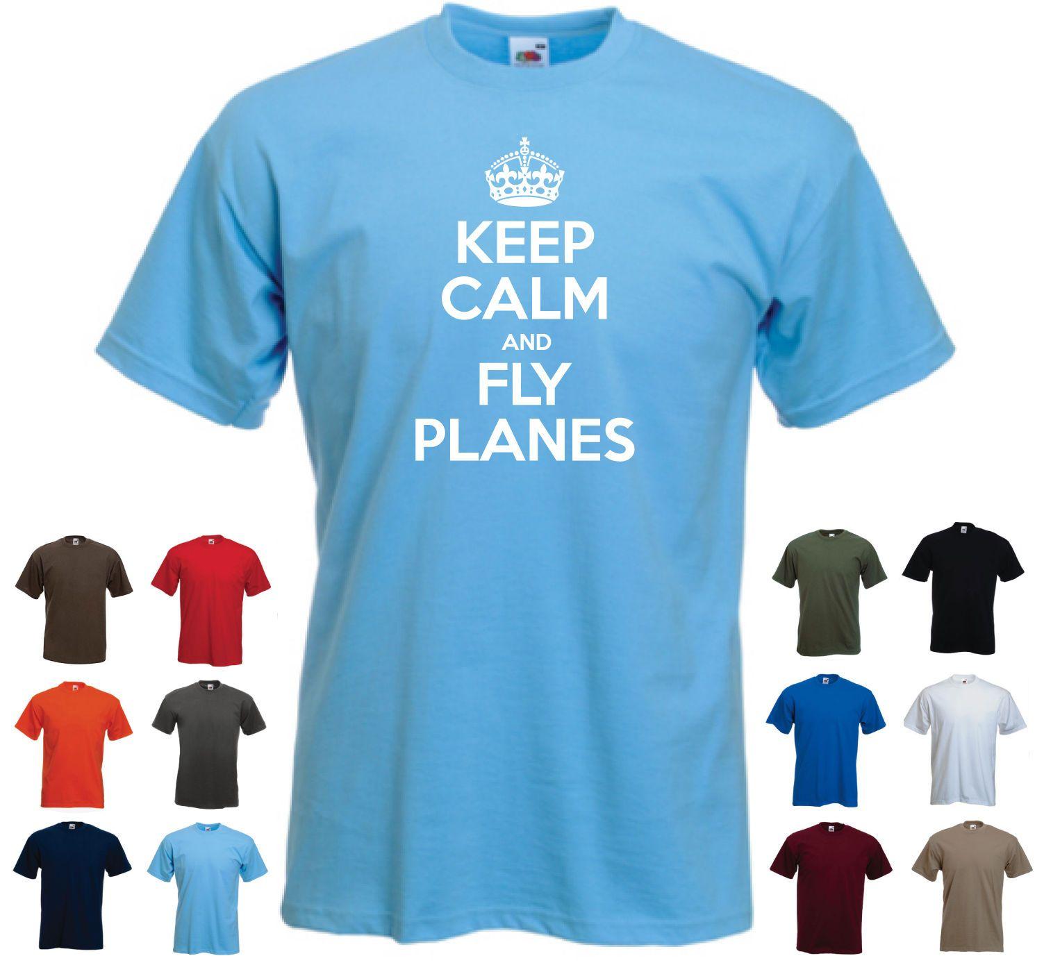 Keep Calm and Fly Planes Aeroplane Airplane Pilot RC Planes Birthday T-shirt