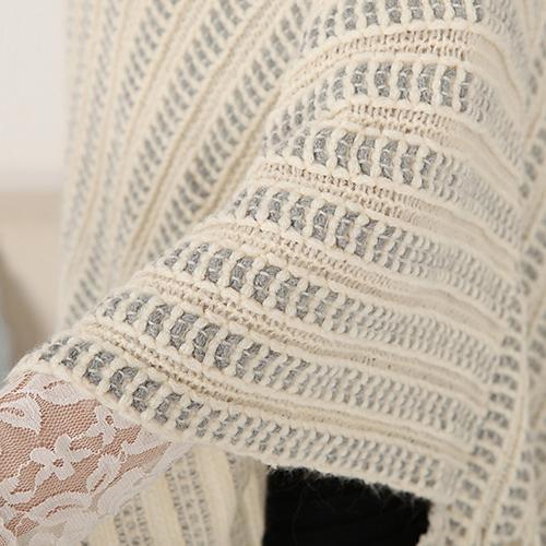 Fashion New 2016 New Women's Knit Warm Batwing Cape Tassels Poncho Cloak Jacket Coat Winter Outwear
