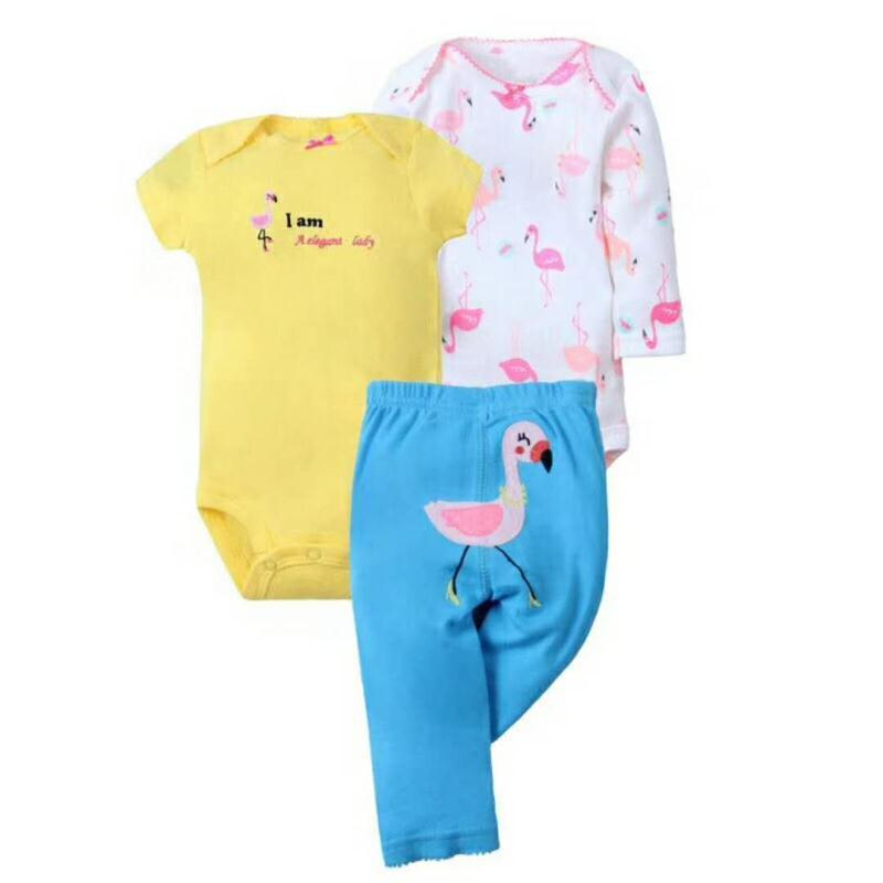 e60787e09 2019 2018 Orangemom Flamingo Summer Baby Girl Clothes Cotton Newborn ...