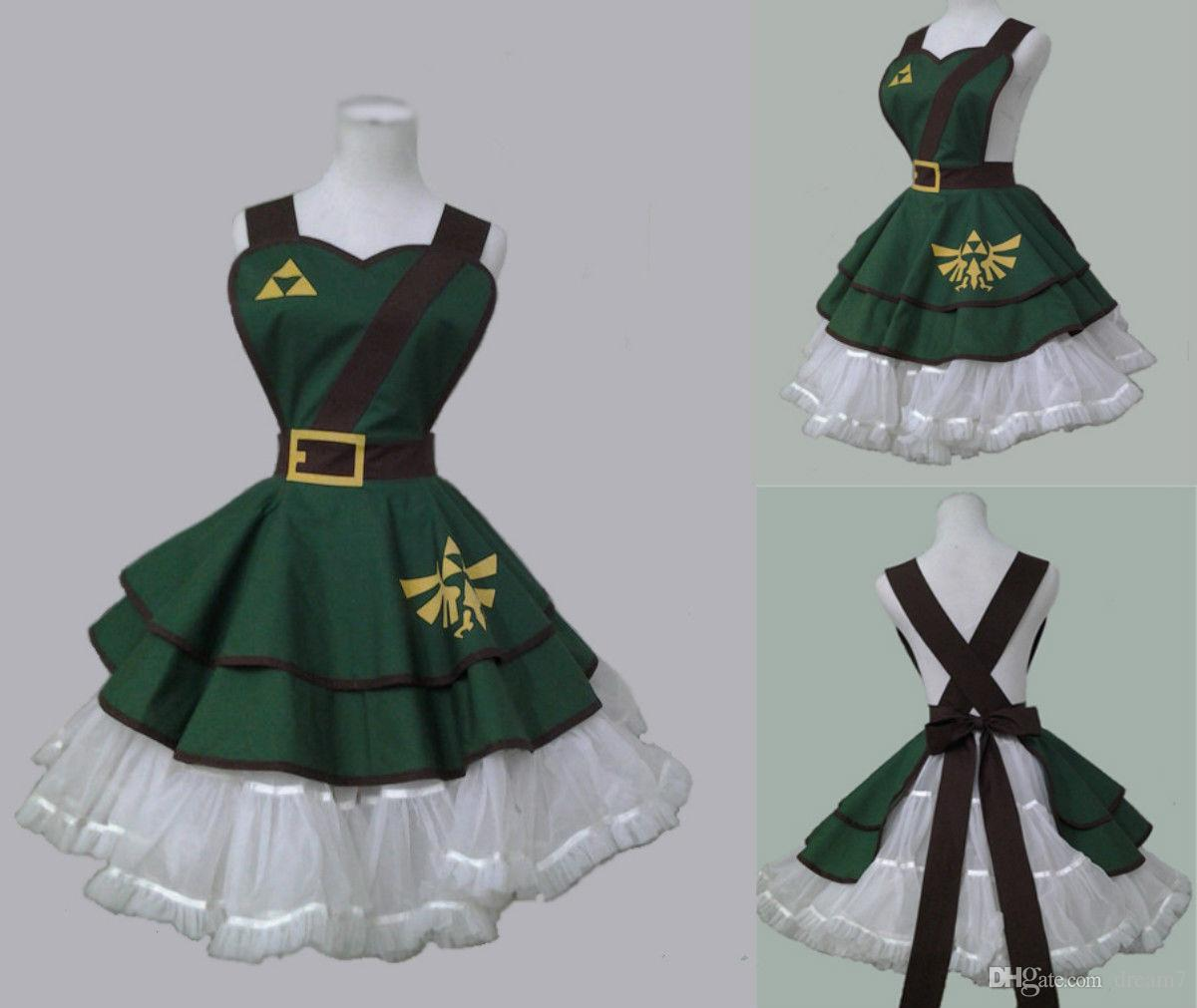 c876d8795 The Legend Of Zelda Female Link COSplay Costume Suit Girl Version Dress  Outfit Four People Costumes Costume Group From Dream7, $57.87| DHgate.Com