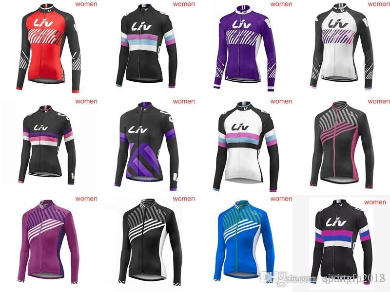 LIV Cycling Jerseys Long Sleeves 2018 Autumn Style For Women Quick Dry Bike  Wear Bicycle Ropa Ciclismo Mtb Jersey C2108 LIV Cycling Jersey Mtb Jersey  ... e984b8047