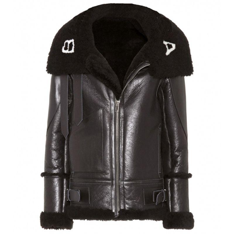 2018 Ba Logo Pu Leather Jacket Men Women Winter Long Coat Plus
