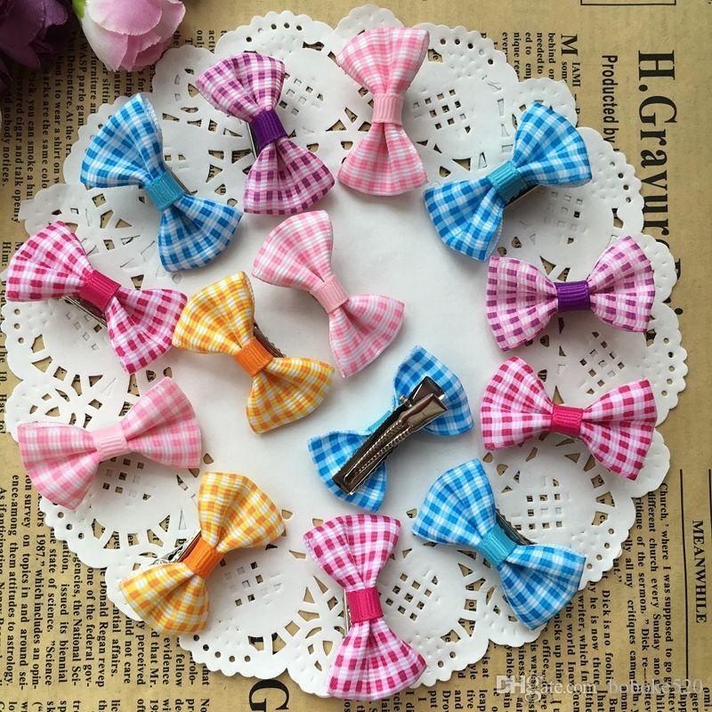 951a2361c99c 1.4 Cute Colorful Grid Print Small Bow Kids Baby Girls Hair Clips Hairpins  Barrettes Hair Accessories Gifts Girl Hair Accessories Little Girls Hair ...