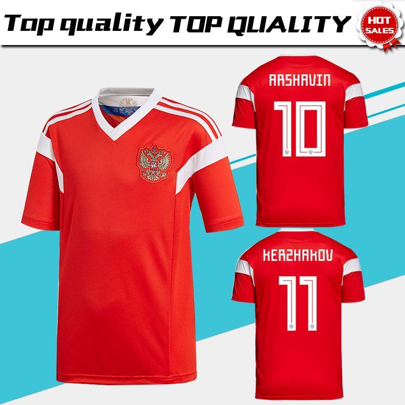 2019 2018 World Cup Russia Soccer Jerseys 2018 World Cup Russian Home Red  Football Uniform   22 DZYUBA  10 SMOLOV Soccer Shirts From Xctc5320 18df33966