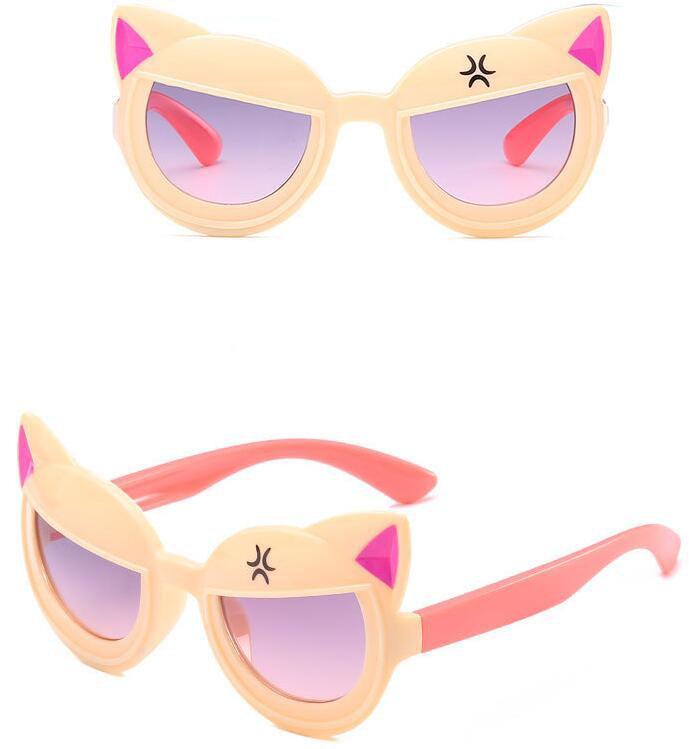 Nouvelles lunettes de soleil animal mignon Oreilles décorées cool miroirs pour enfants Filles et garçons Lunettes de soleil pour enfants pare-soleil universel en gros
