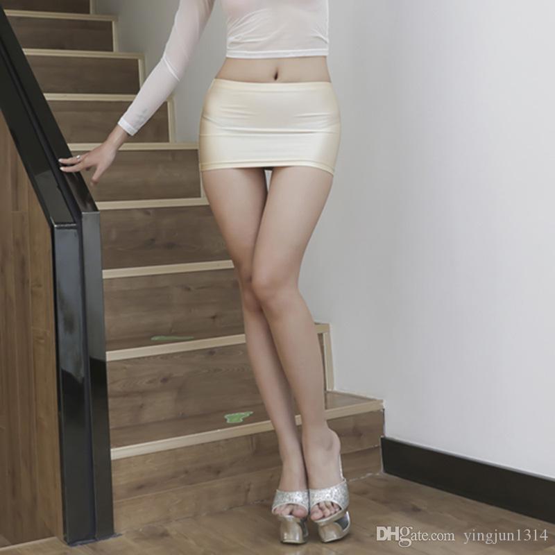 النساء الغنيمة تنورة قصيرة مايكرو البسيطة الهيئة غير الرسمية تمتد أنابيب الحزب لامعة دنة مثير إضافي ملهى ليلي نوم