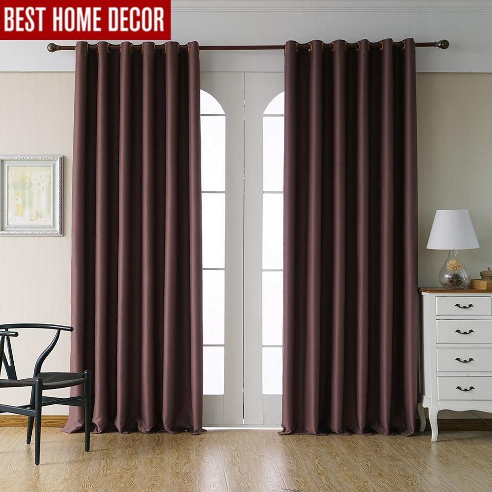 Tende oscuranti moderne per tende camera da letto soggiorno per il  trattamento di finestre tende pannello 1 blackout completamente verniciato