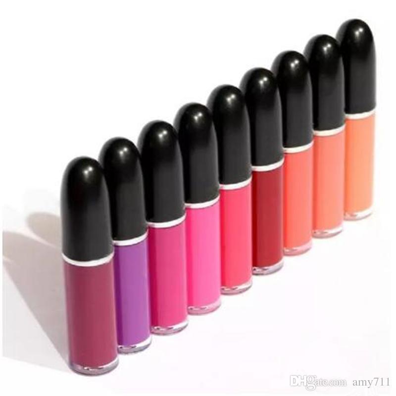 Trucco Lip Gloss retrò opaco Lipcolour Lipcolour Lipgloss Tazza non-bastone Lipgloss con nome inglese ha i diversi 5ml