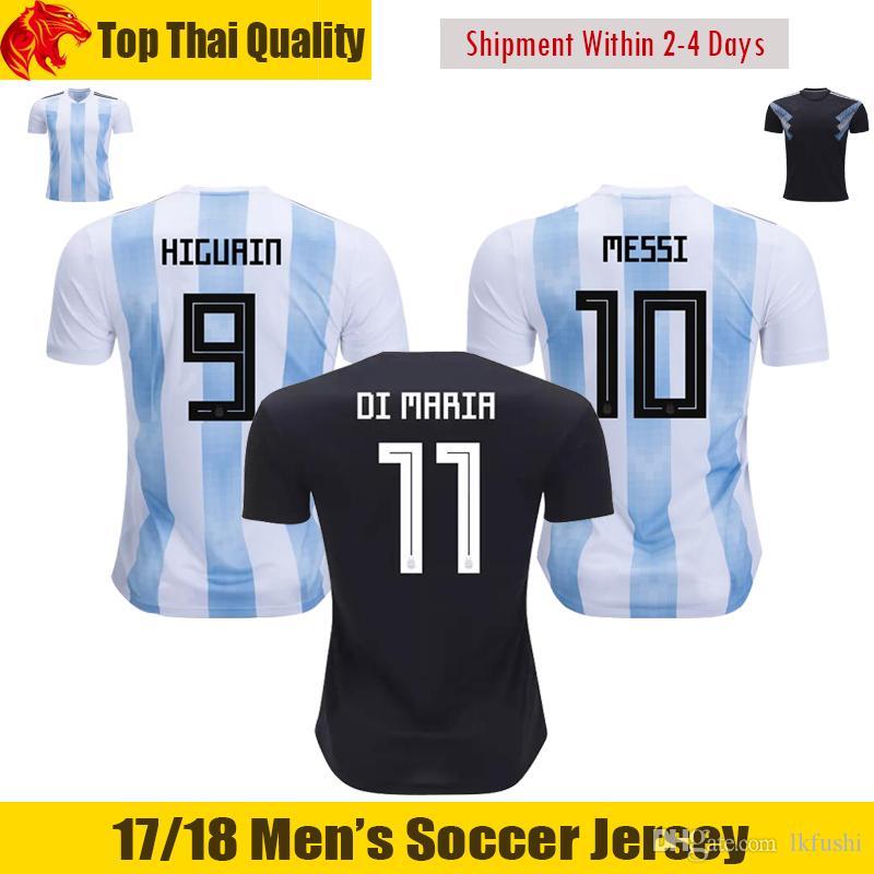 82354550efbed 2018 Copa Del Mundo Argentina Soccer Jerseys 18 19 Argentina MESSI Jersey  SERGIO AGUERO Camiseta De Fútbol HIGUAIN Argentina Jersey BIGLIA DI MARIA  ...
