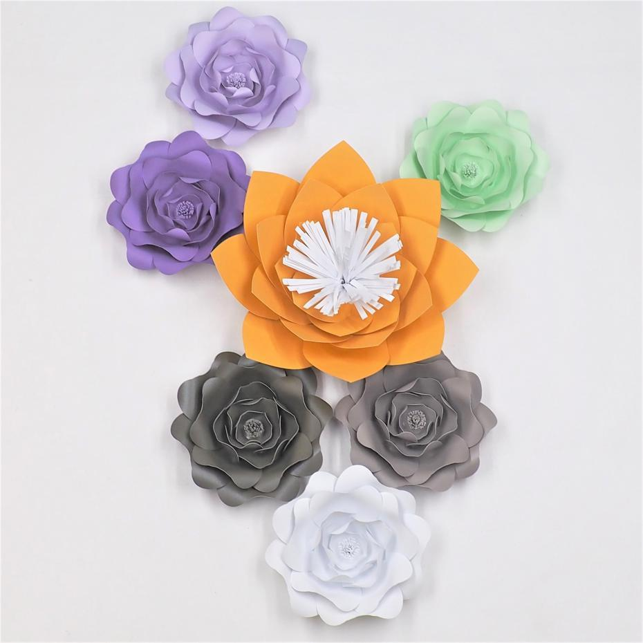2018 Diy Giant Paper Flowers Backdrop Half Made Flowers Full Kits