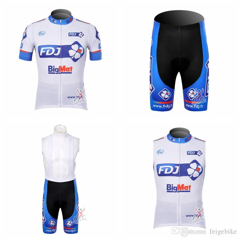FDJ Team Cycling Short Sleeves Jersey Bib Shorts Sleeveless Vest Sets Hot  Sale Bike Jersey Breathable And Quick Drying Clothes Q50915 Castelli Bib  Shorts ... 04848c7f0