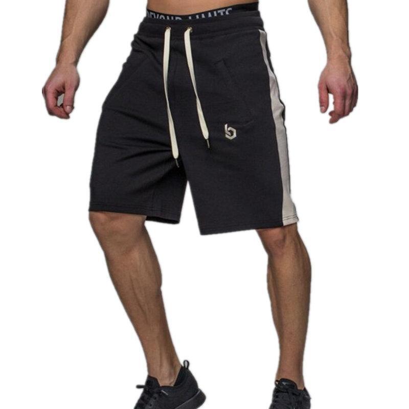 92494bc43 Compre Hombres Gimnasio Pantalones Cortos Sueltos Respirables Verano Correr  Deportes Correr Entrenamiento Físico Pantalones Deportivos Masculinos  Crossfit ...