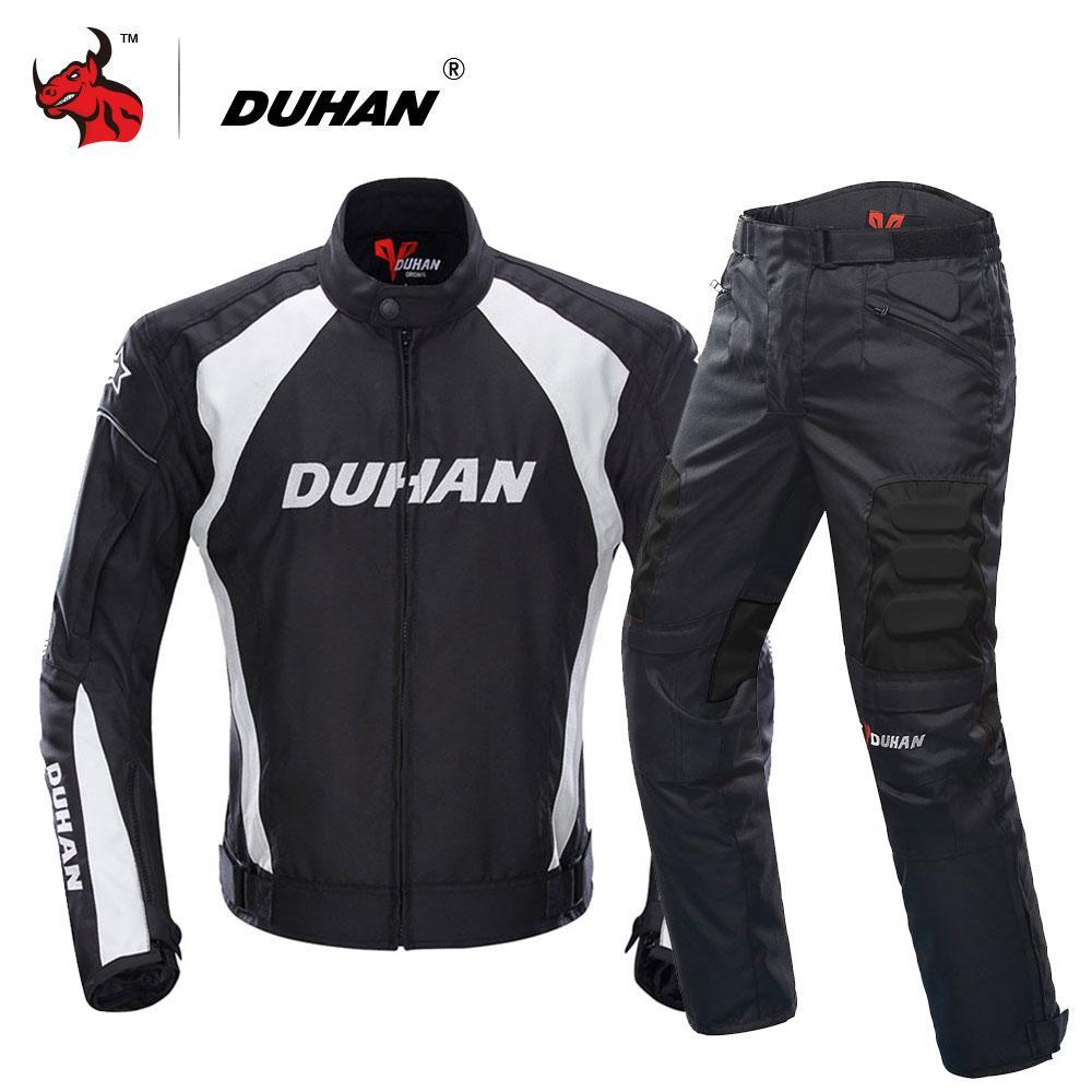 cb6f5ba35e7cf Compre DUHAN Motocicleta Chaqueta Motocross Trajes Chaqueta Pantalones Moto  Chaqueta Protective Gear Armor Motocicletas Racing Chaquetas A  57.71 Del  ...