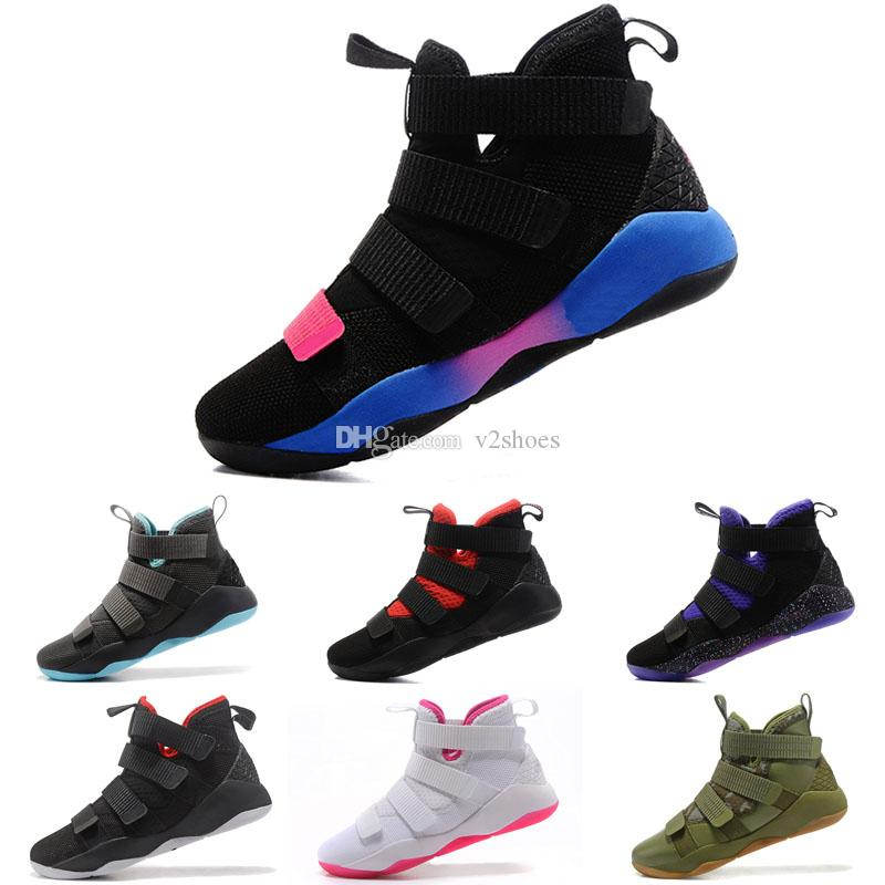 Soldier 11 Man Basketball Shoe XI Sneakers Professional Basketball Sneakers  Equality BHM Graffiti XV Series Soldier 11 Sports Basketball Shoes Online  with ... 21bf1e117