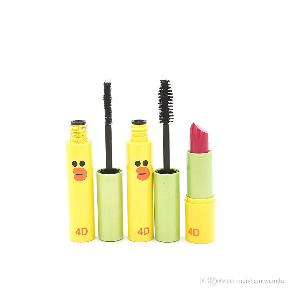 Mascara 3d Fibre Mascara 3d Etanche allongeant / boite Mascara 2 en 1 Super-Noir Ficelle Longue Péruvienne Curl 8247