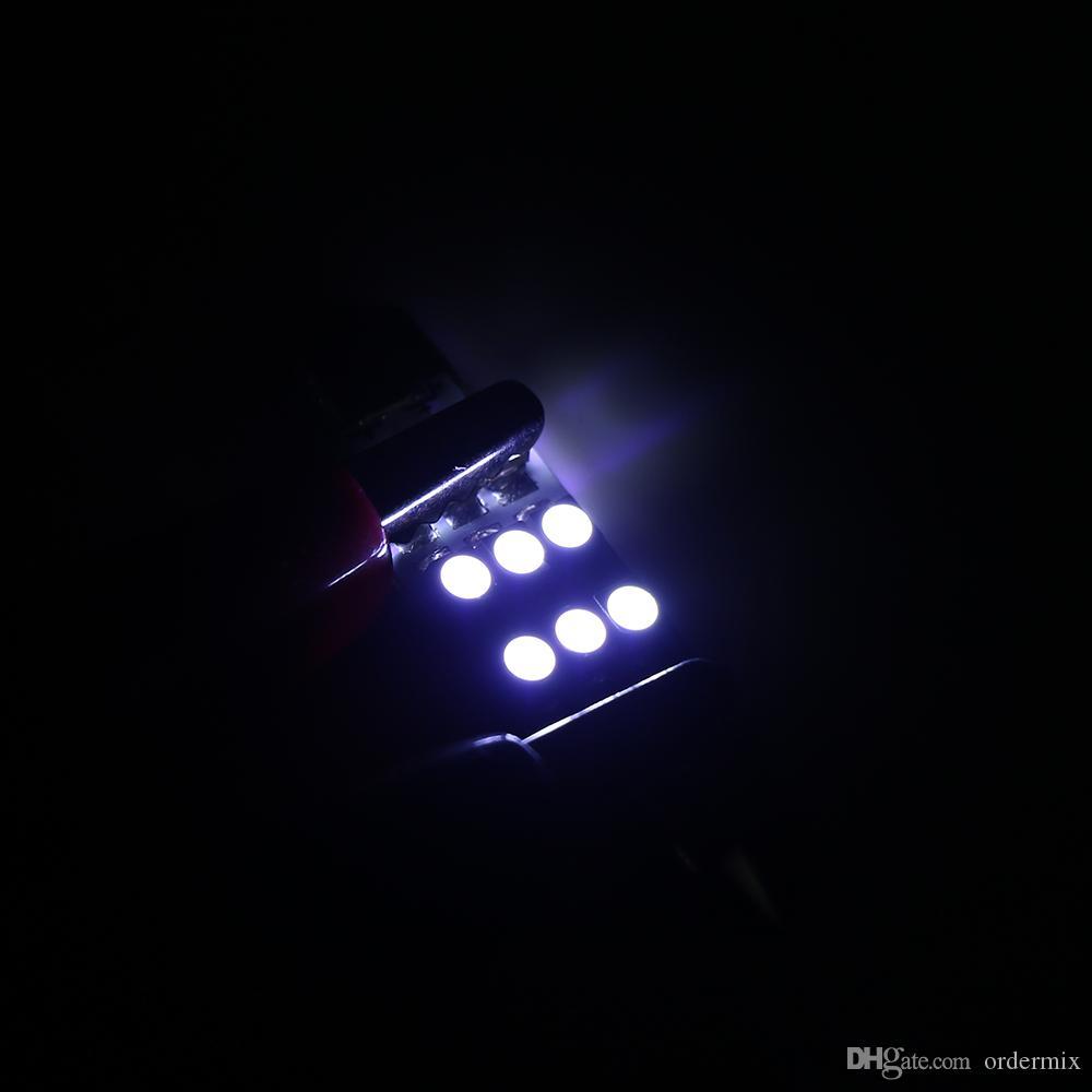 2 قطع جديد الصرفة الأبيض كريستال الأزرق 42 ملليمتر c5w في canbus 12smd led لمبة 2835smd السيارات السيارات مصباح dc12v ضوء لوحة ترخيص ضوء لمبة