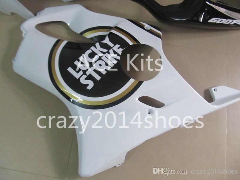 Body repair parts for HONDA CBR600 F4I 01 02 03 CBR600F4I 2001 2002 2003 F4I CBR600 Black White Fairings set HP18
