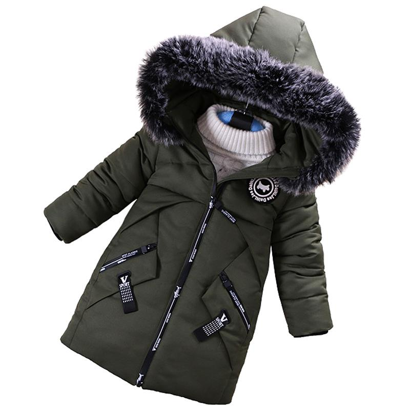 88b3e48d3 Boys Warm Coat Winter Jackets For Kids Clothes Snowsuit Parkas ...