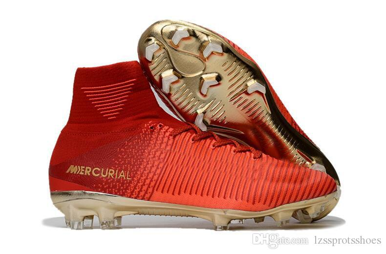 Mercurial CR7 Superfly 5 V FG ACC Mens Soccer Boots Kids Football Boots Superflys Soccer Shoes Boys Children Women Youth Soccer Cleats Cheap