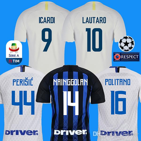 ebacb37336 2019 18 19 Inter Soccer Jersey LAUTARO ICARDI PERISIC NAINGGOLAN Milan  Football Shirt Inter Home 2018 2019 POLITANO AMBROSIO Away Maillot De Foot  From ...