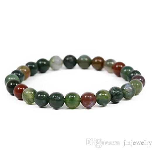 JLN Power Beads Bracciale Gemme Semi Preziose Amazonite Ematite Lapis Stone Corda elastica Braccialetto elasticizzato Regalo Uomo Donna