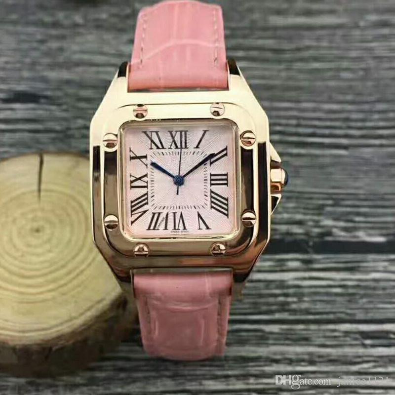 f76afbb6200f Compre Nuevo Modelo De Pareja Mujeres De Lujo Vestido De Hombre Relojes De  Moda Para Mujer Diseñador Unisex Reloj De Pulsera De Cuero A  11.17 Del ...