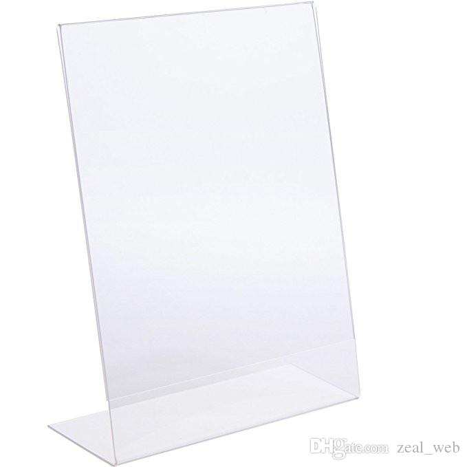 Cheapest!!! 21*29.7cm acrylic Sign Holder Ad Frame Display Racks Clear Table Sign Display Holder Advertising display equipment